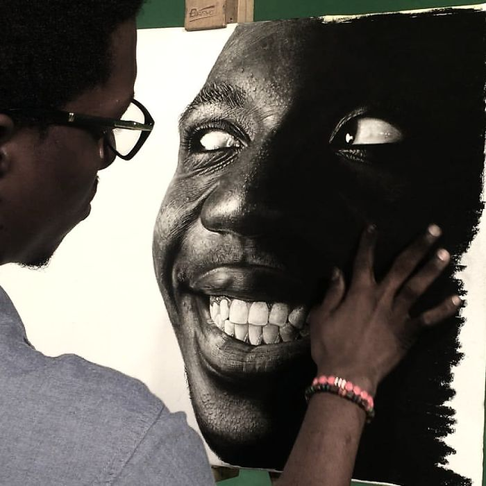 This Nigerian Artist's Artworks Are So Realistic It's Hard To Believe He Used Nothing More Than A Pencil