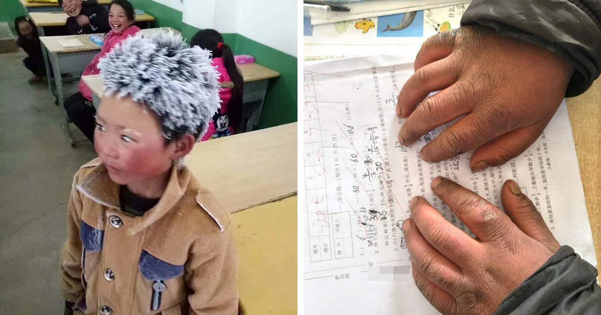 Boy Walks 4.5 Km In Freezing Cold To Attend His School, And The Conditions He's Living In Will Break Your Heart