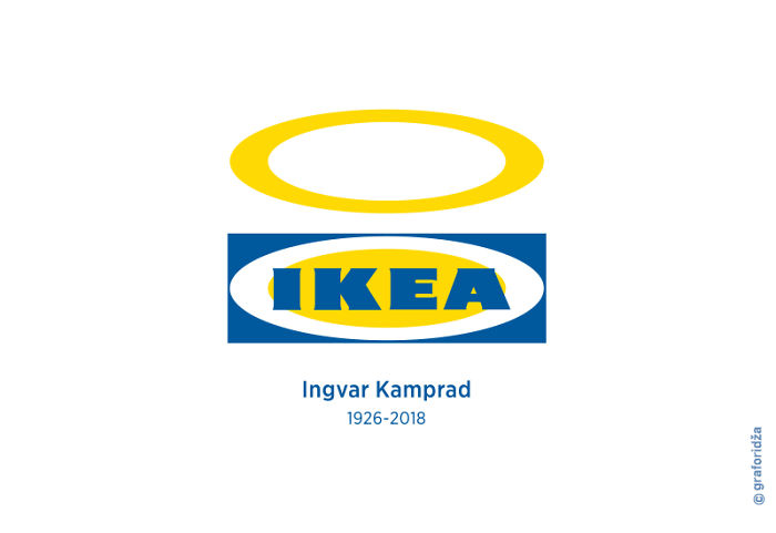 Posters Dedicated To The Late Ikea Founder