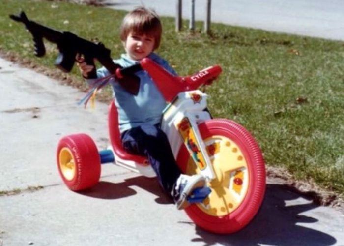Rollin' Hard With A Machine Gun On My Spider-Man Big Wheel In 1980