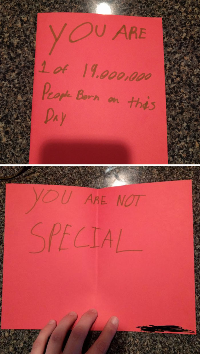 One Of My Girlfriends Students Gave Her This Card For Her Birthday