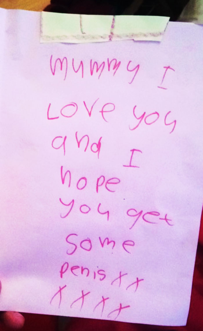 "A Card From My 5-Year-Old Daughter Hoping I Win Lots Of ""Pennies"" At The Casinos In Vegas"