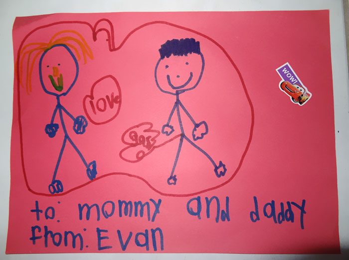 Amazing Valentines Day Card Of Mom Sharing Love While Dad Shares Gas