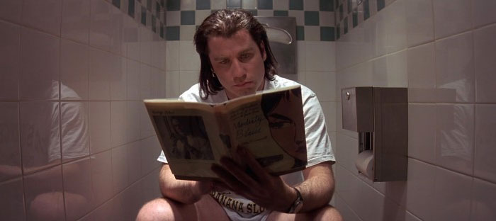 In Pulp Fiction Vincent Vega Is Constantly On The Toilet. One Of The Side Effects Of Heroin Abuse Is Constipation