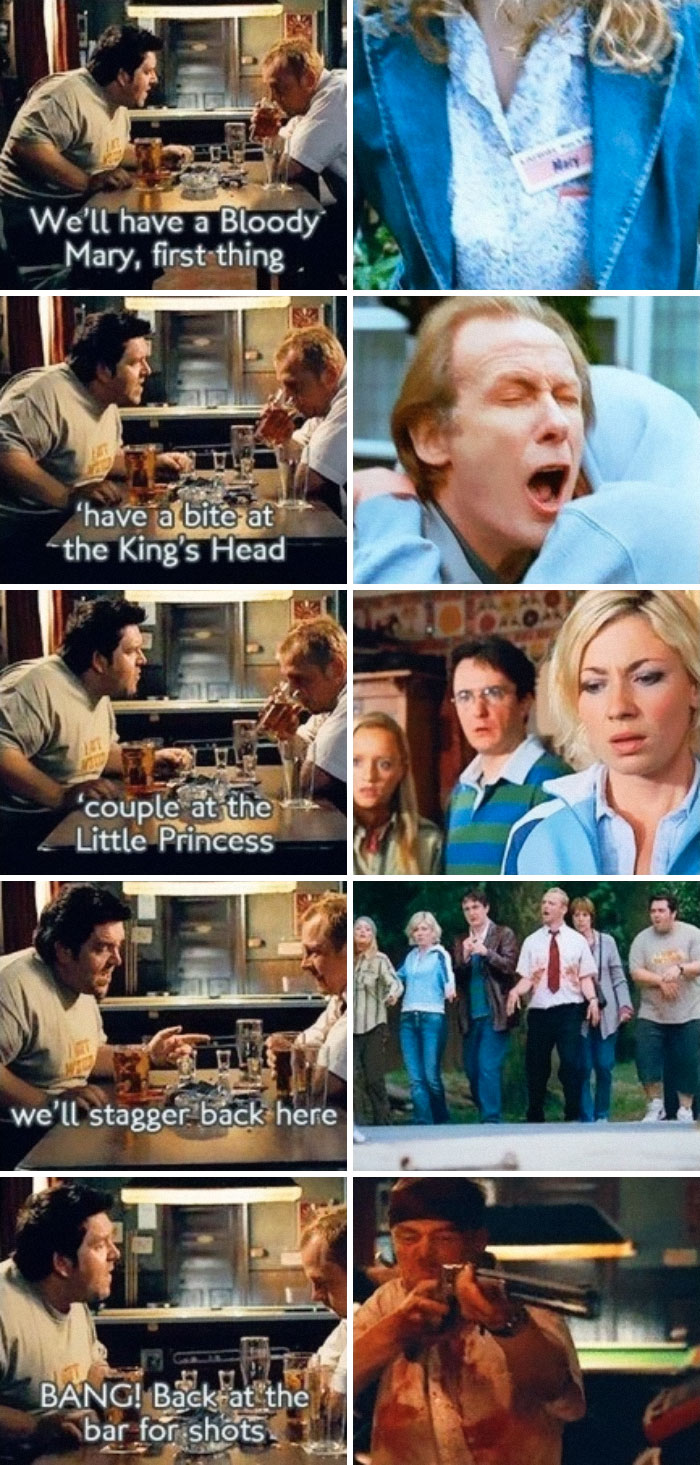 In Shaun Of The Dead, The Films Key Events Are Laid Out By Ed Before The Zombies Rise