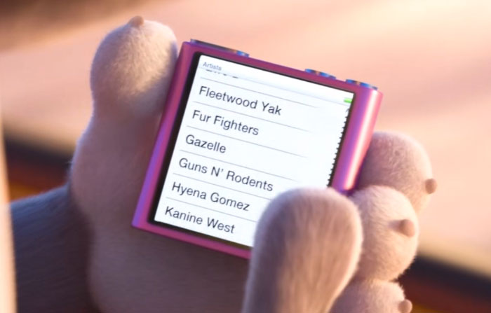 The Pun Names On Judy Hopps' Ipod In Zootopia