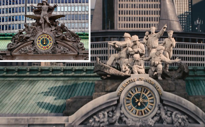 In Avengers: Age Of Ultron, The Clock Atop Grand Central Station Has Been Replaced With A Memorial To First Responders. The Original Was Destroyed In The First Avengers Film During The Battle Of New York