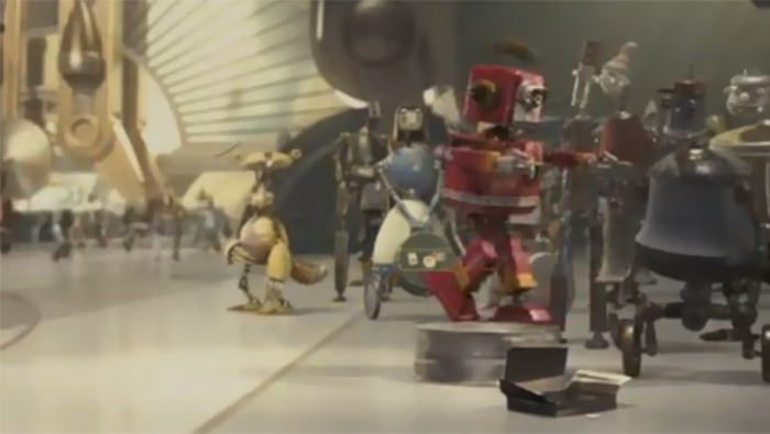 In The Animated Movie Robots (Created By The Makers Of Ice Age), There's A Robot Version Of Sid The Sloth In The Background