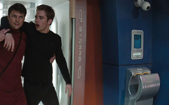 In Star Trek (2009), A Dyson Hand Dryer Is Used As Space Age Enterprise Technology