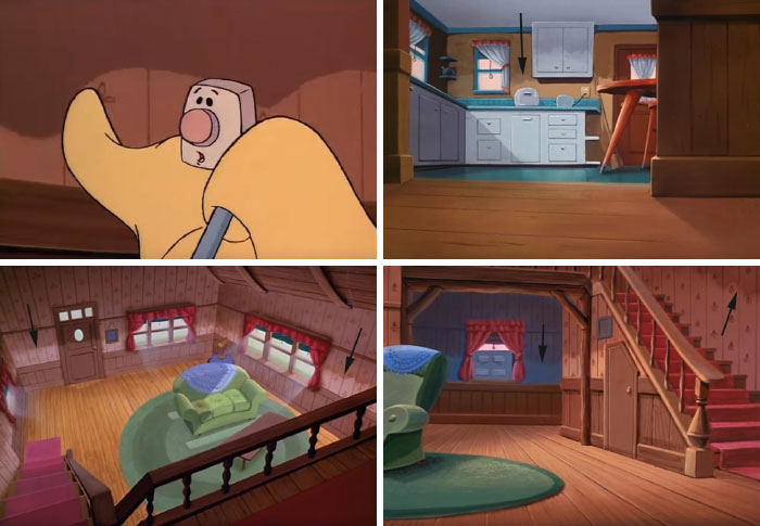 In The Brave Little Toaster, All Of The Walls In The Cottage Are Cleaned Only As High As Blanky Can Reach