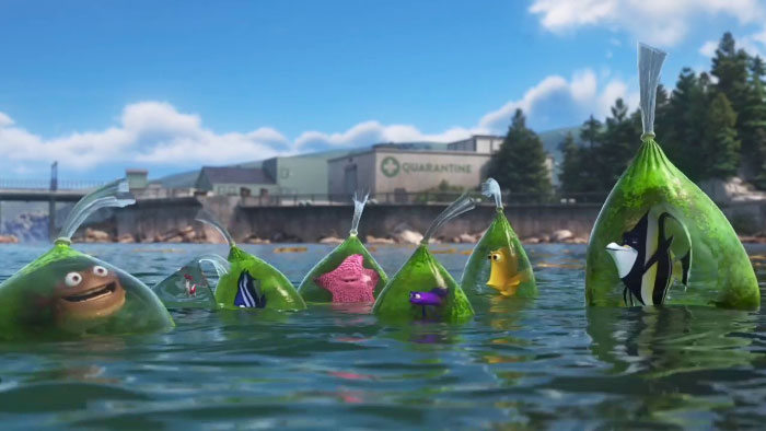 In The After Credits Scene Of Finding Dory, Jacques' (Cleaner Shrimp's) Bag Is The Cleanest
