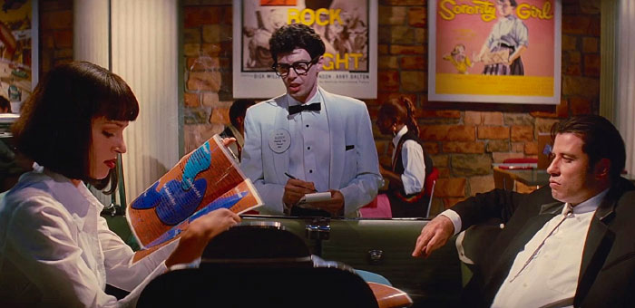 In Reservoir Dogs, Mr Pink (Played By Steve Buscemi) Famously Protests The Culture Of Tipping Waitresses. In Pulp Fiction, Buscemi Cameos As Buddy Holly, A Waiter