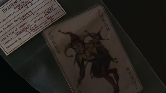 At The End Of Batman Begins, Batman Receives A Joker Card From Jim Gordon. This Card Was Recovered By A Policeman Named J. Kerr, A Common Alias Of The Joker