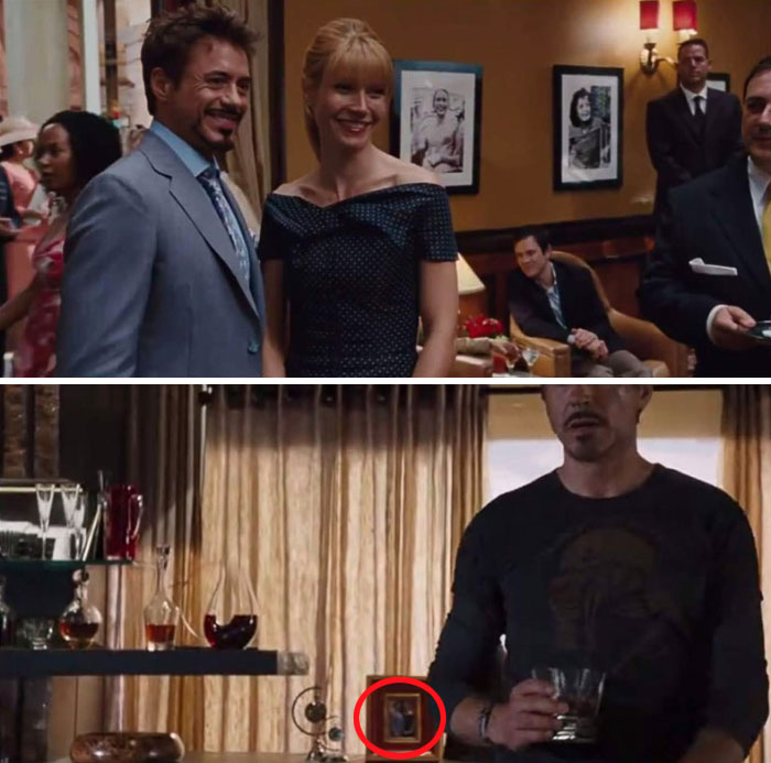 In Iron Man 2 When Tony And Pepper Take A Picture In Monaco That Same Photo Can Be Seen In The Avengers When Tony Confronts Loki