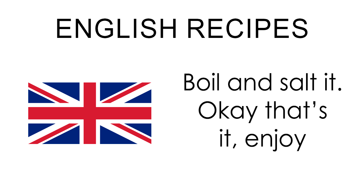 Tumblr Summarizes What Different Country Recipes Look Like
