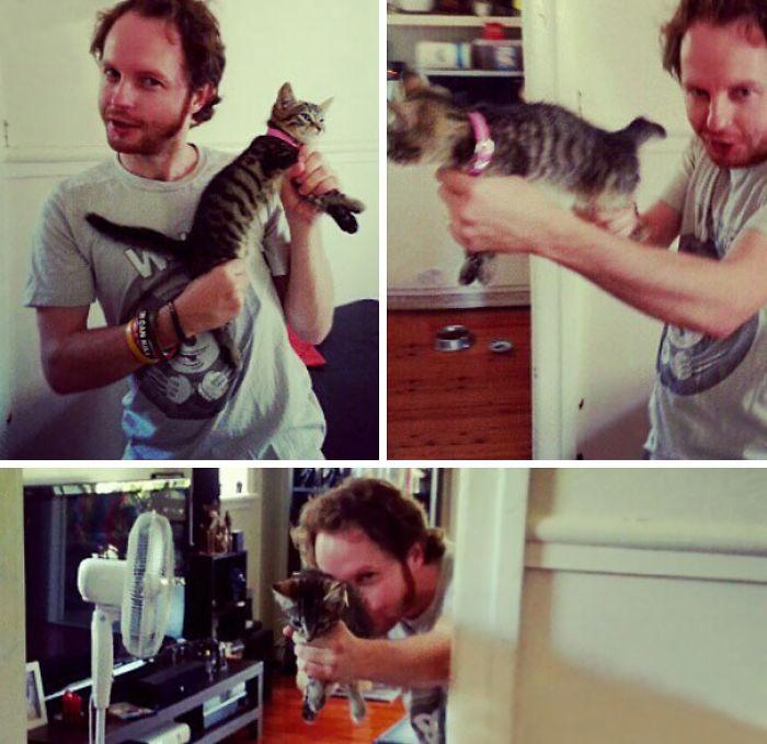 El nuevo juego favoritode mi novio: gatito ametralladora