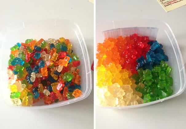 Gummy Bears Organized Correctly