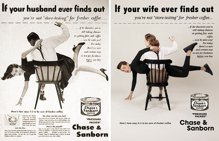 Photographer Reverses Gender Roles In Sexist Vintage Ads