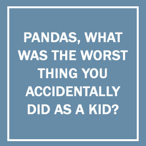 Pandas, What Was The Worst Thing You Accidentally Did As A Kid?