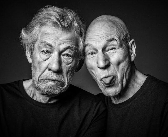 Patrick Stewart And Ian Mckellen