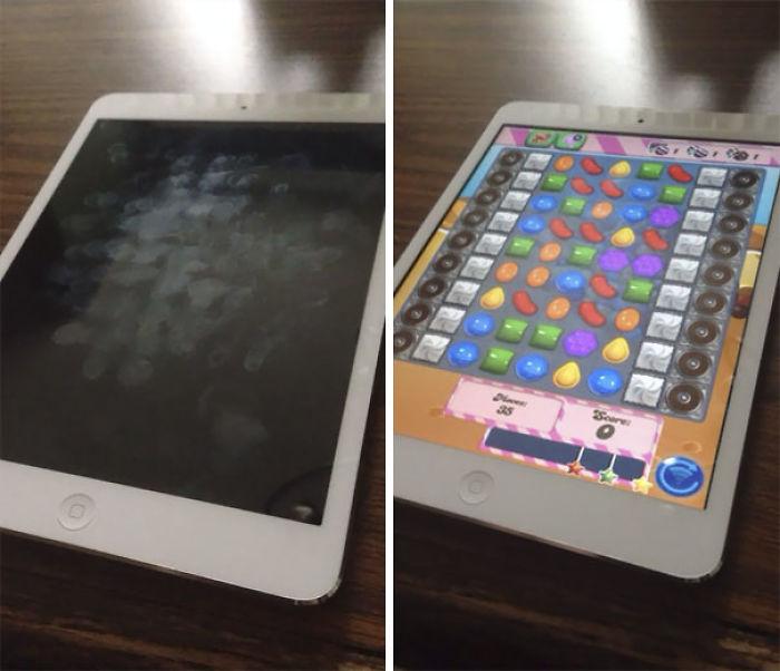 Mi novia dijo que necesitaba el ipad para trabajar, no la creí. Las huellas dactilares me dan la razón