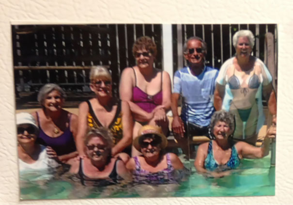 "My Grandpa Kept Telling Me That He Had 8 ""Gal Pals"" At His Senior Home. I Didn't Believe Him Until I Saw This Picture Hanging Up On His Fridge"