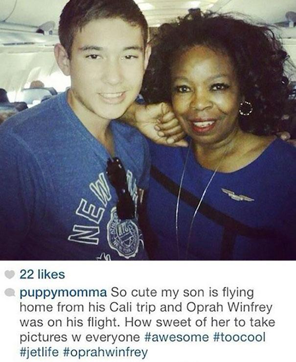 Oprah Winfrey Was On A Flight