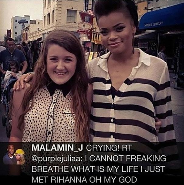 Meeting Rihanna