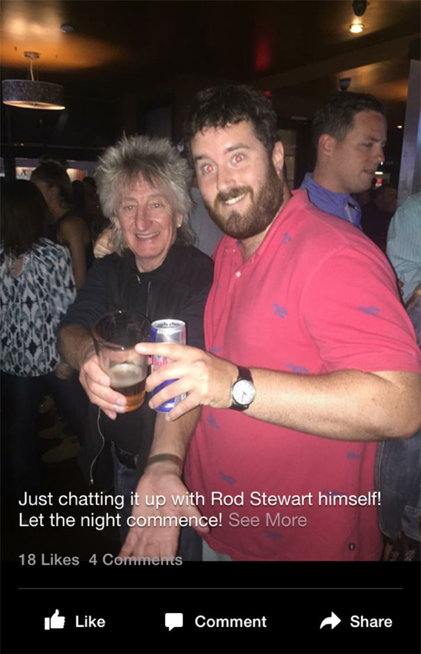 Just Chatting It Up With Rod Stewart Himself