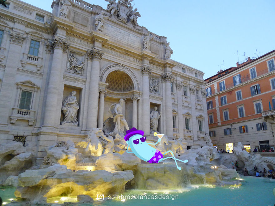I Add Happy, Colorful Creatures To Everyday Life And Travel Photos