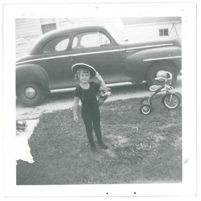 """El Puncho 1961 (My Tricycle Was My Horse And Usually Had """"Reins"""" Attached To The Handlebars."""