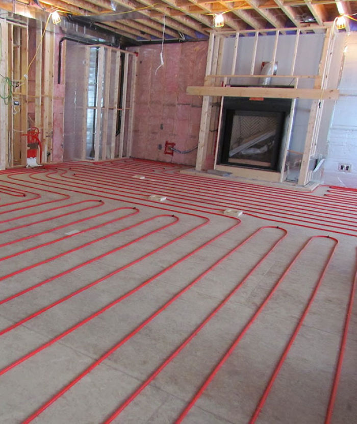 Thats What A Heated Floor Looks Like Before The Hard Floory Stuff Is Put On Top