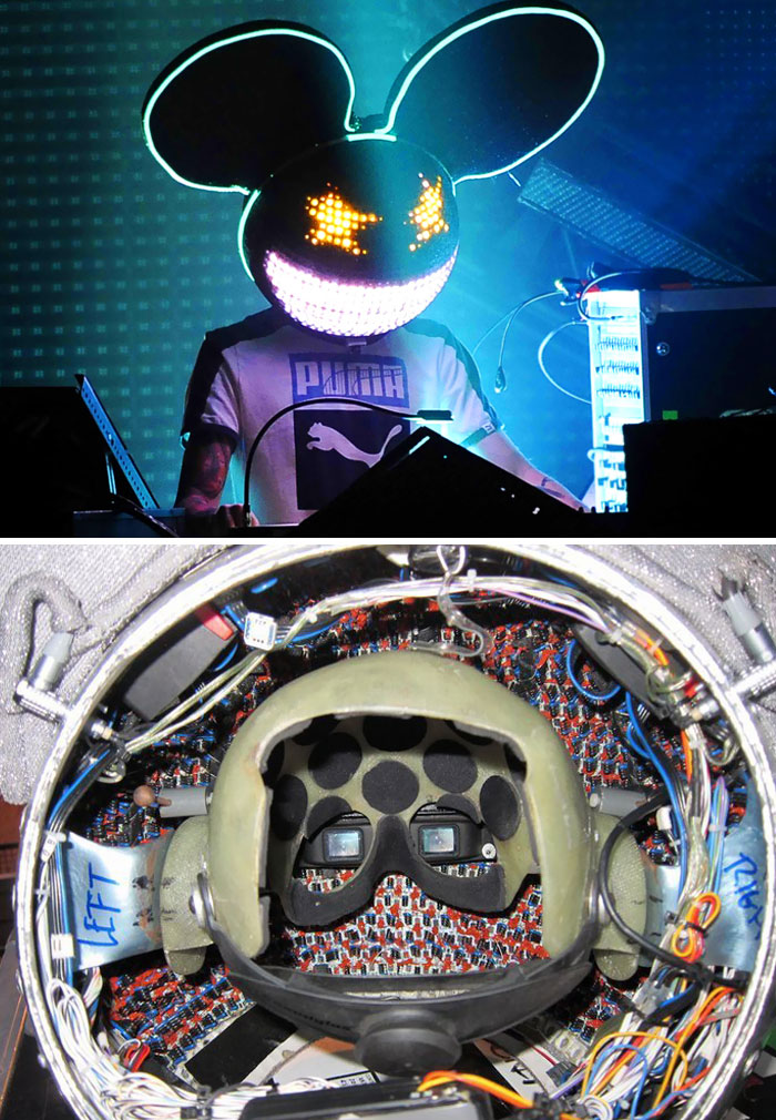 This Is How One Of The Deadmau5's Helmets Looks Like Inside