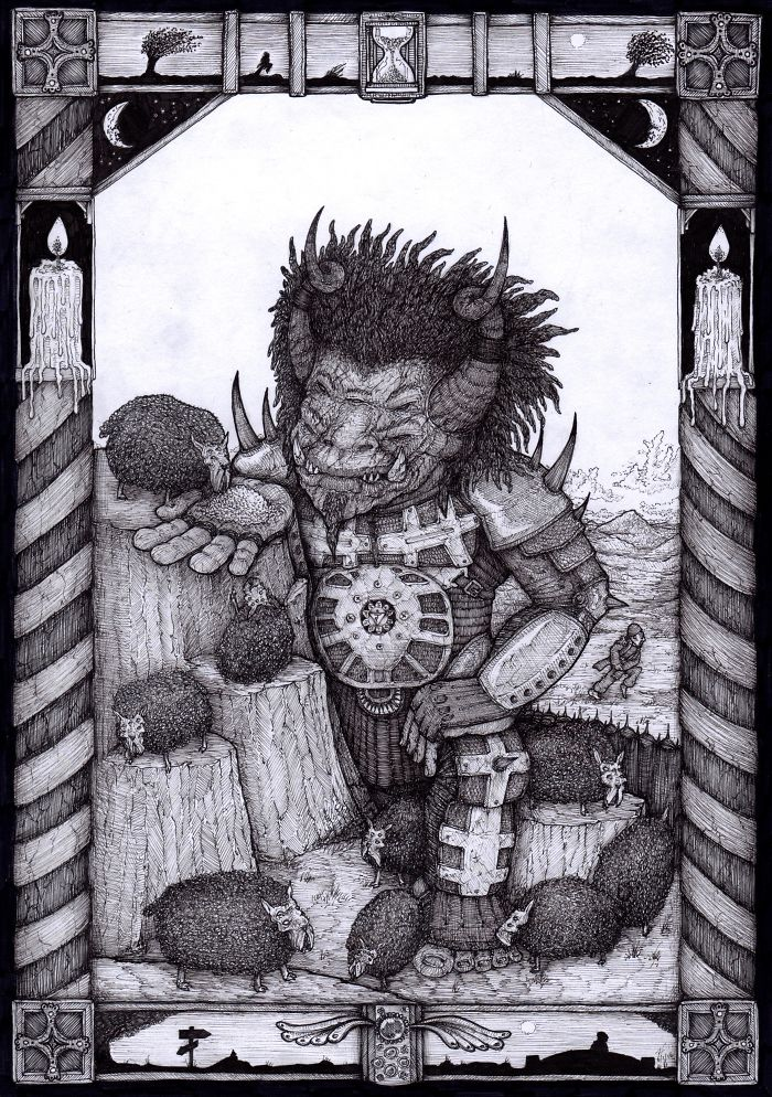 18 Awesomely Detailed Dark Fantasy Drawings