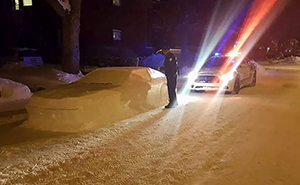 Internet Can't Stop Laughing At These Cops Who Ticketed A Car Made Of Snow With This Note
