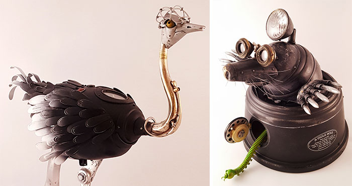 Steampunk Sculptures That I Create From Trash (Part 2)