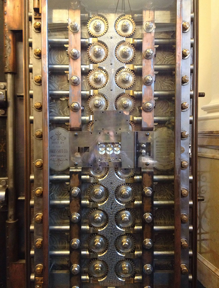 Inside Of The Vault Door At The Bank I Work At. Beautiful Engineering From 1800s