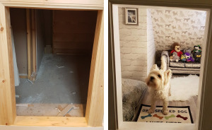 I Built My Dog A Room Under The Stairs And It Turned Out Better Than Expected