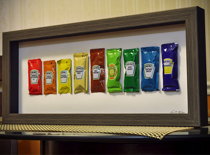 I Collect Condiment Packets And Wanted A Creative Way To Get Rid Of My Extras