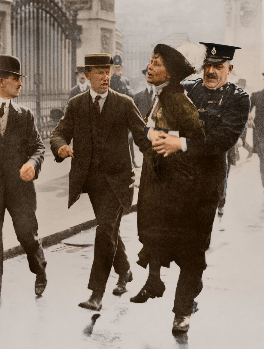 I've Colorized These 100-Year-Old Photos To Show How Much Of A Struggle It Was To Have The Women's Rights That We Have Today