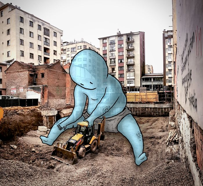 I'm An Architect Who Illustrates The Secret Life Of Giants In The Streets Of Turkish Cities