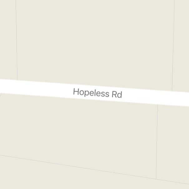 Hopeless Road, Dandridge, USA