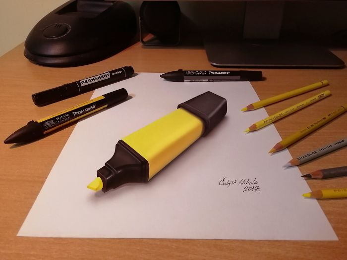 Just One 3D Yellow Highlighter
