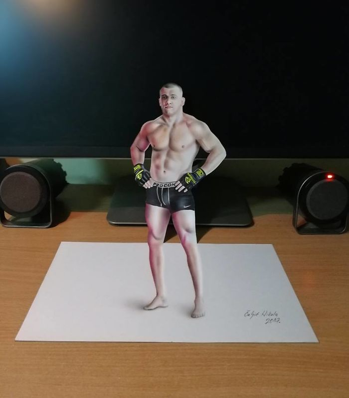 And Sometimes I Like To Draw Athletes Like This UFC Fighter