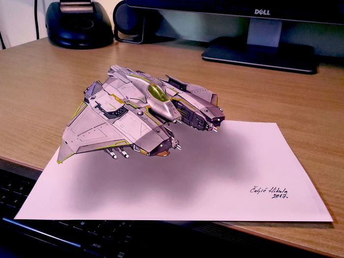 And Some Of Them Are Reduced Like This 3D Spaceship
