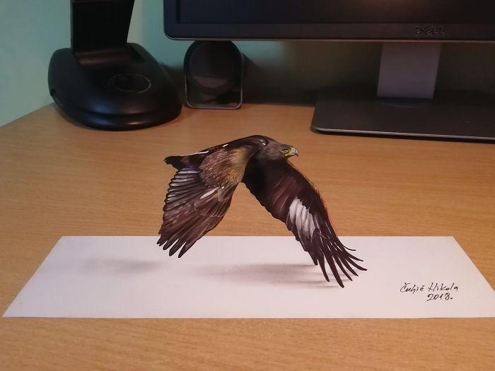 3D Eagle Flying