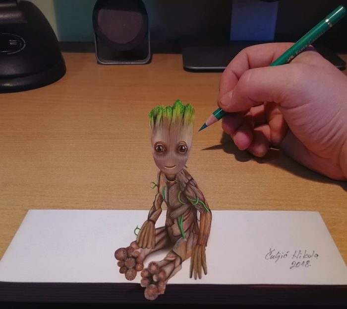 You Know This Little Fella From Guardians Of The Galaxy, 3D Groot