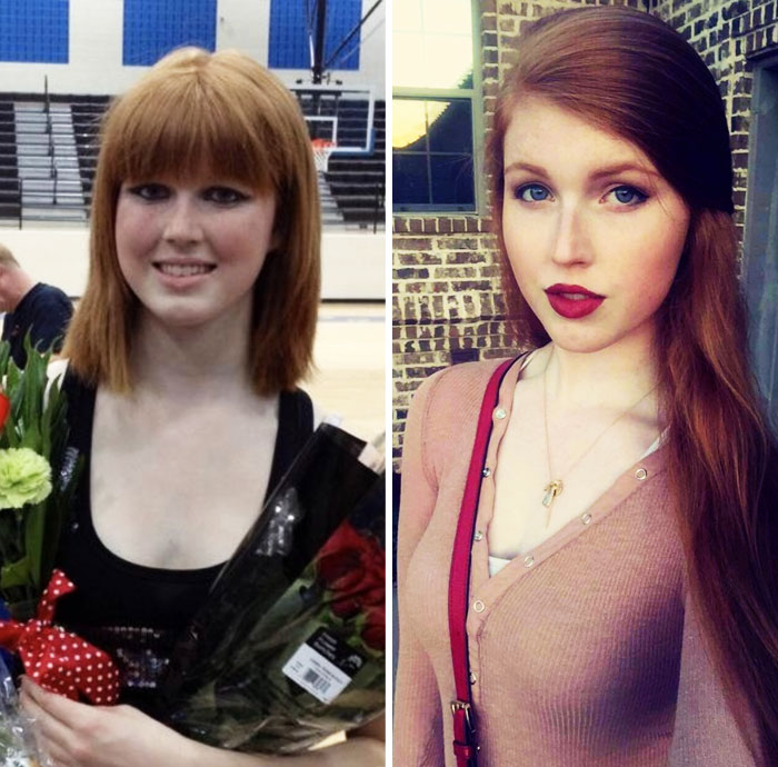 17 To 22. My Hair Doesn't Look Like A Bad Wig Anymore