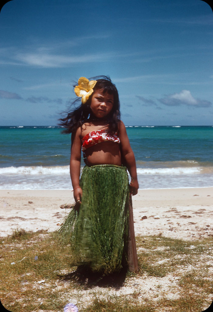 Hula Girl. Hawaii, 1956