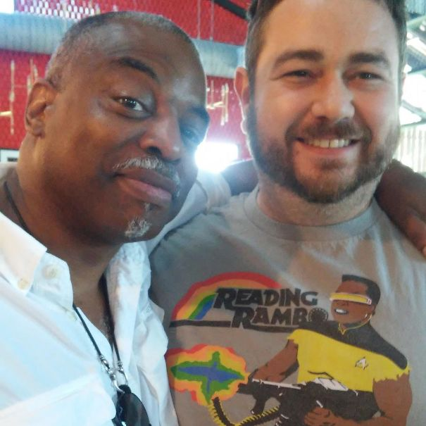 Just Me, Levar Burton And My Reading Rambo Shirt